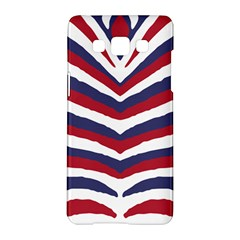 Us United States Red White And Blue American Zebra Strip Samsung Galaxy A5 Hardshell Case  by PodArtist