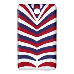 Us United States Red White And Blue American Zebra Strip Samsung Galaxy Tab 4 (7 ) Hardshell Case  by PodArtist