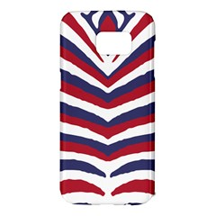 Us United States Red White And Blue American Zebra Strip Samsung Galaxy S7 Edge Hardshell Case by PodArtist