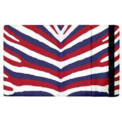 Us United States Red White And Blue American Zebra Strip Apple Ipad Pro 9 7   Flip Case by PodArtist