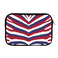 Us United States Red White And Blue American Zebra Strip Apple Macbook Pro 17  Zipper Case by PodArtist