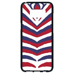 Us United States Red White And Blue American Zebra Strip Samsung Galaxy S8 Black Seamless Case by PodArtist