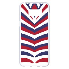 Us United States Red White And Blue American Zebra Strip Samsung Galaxy S8 Plus White Seamless Case by PodArtist