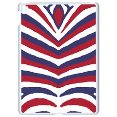 Us United States Red White And Blue American Zebra Strip Apple Ipad Pro 9 7   White Seamless Case by PodArtist
