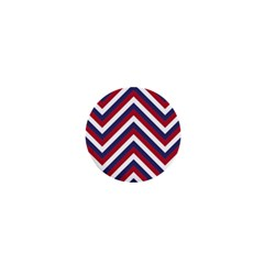 United States Red White And Blue American Jumbo Chevron Stripes 1  Mini Magnets by PodArtist