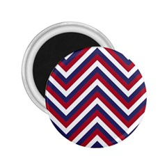 United States Red White And Blue American Jumbo Chevron Stripes 2 25  Magnets by PodArtist