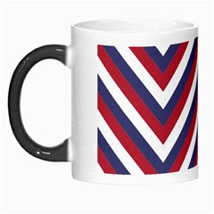 United States Red White And Blue American Jumbo Chevron Stripes Morph Mugs by PodArtist