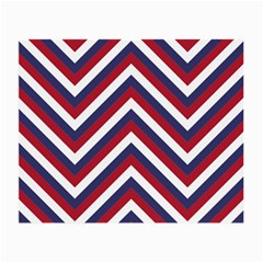 United States Red White And Blue American Jumbo Chevron Stripes Small Glasses Cloth (2 Side) by PodArtist