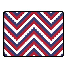 United States Red White And Blue American Jumbo Chevron Stripes Fleece Blanket (small) by PodArtist