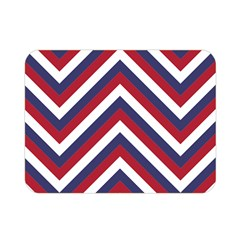 United States Red White And Blue American Jumbo Chevron Stripes Double Sided Flano Blanket (mini)  by PodArtist
