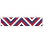 United States Red White and Blue American Jumbo Chevron Stripes Small Flano Scarf Back