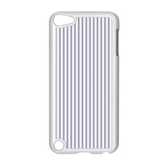 Mattress Ticking Narrow Striped Pattern In Usa Flag Blue And White Apple Ipod Touch 5 Case (white) by PodArtist