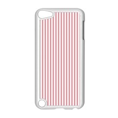 Mattress Ticking Narrow Striped Usa Flag Red And White Apple Ipod Touch 5 Case (white) by PodArtist