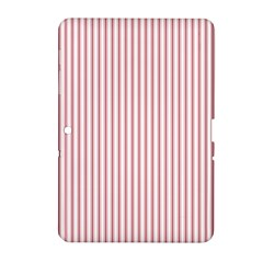 Mattress Ticking Narrow Striped Usa Flag Red And White Samsung Galaxy Tab 2 (10 1 ) P5100 Hardshell Case  by PodArtist