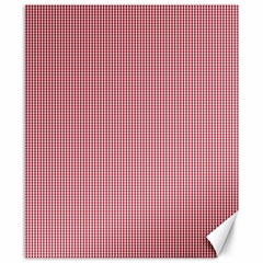 Usa Flag Red Blood Mini Gingham Check Canvas 8  X 10  by PodArtist