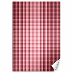 Usa Flag Red Blood Mini Gingham Check Canvas 20  X 30   by PodArtist