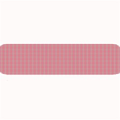 Usa Flag Red Blood Mini Gingham Check Large Bar Mats by PodArtist