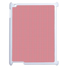 Usa Flag Red Blood Mini Gingham Check Apple Ipad 2 Case (white) by PodArtist