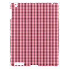 Usa Flag Red Blood Mini Gingham Check Apple Ipad 3/4 Hardshell Case by PodArtist