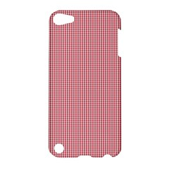 Usa Flag Red Blood Mini Gingham Check Apple Ipod Touch 5 Hardshell Case by PodArtist