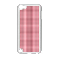 Usa Flag Red Blood Mini Gingham Check Apple Ipod Touch 5 Case (white) by PodArtist