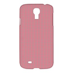 Usa Flag Red Blood Mini Gingham Check Samsung Galaxy S4 I9500/i9505 Hardshell Case by PodArtist