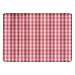 Usa Flag Red Blood Mini Gingham Check Samsung Galaxy Tab 10 1  P7500 Flip Case by PodArtist