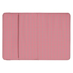 Usa Flag Red Blood Mini Gingham Check Samsung Galaxy Tab 8 9  P7300 Flip Case by PodArtist
