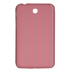 Usa Flag Red Blood Mini Gingham Check Samsung Galaxy Tab 3 (7 ) P3200 Hardshell Case  by PodArtist