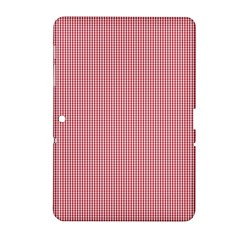 Usa Flag Red Blood Mini Gingham Check Samsung Galaxy Tab 2 (10 1 ) P5100 Hardshell Case  by PodArtist