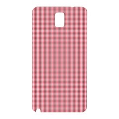 Usa Flag Red Blood Mini Gingham Check Samsung Galaxy Note 3 N9005 Hardshell Back Case