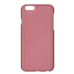 Usa Flag Red Blood Mini Gingham Check Apple Iphone 6 Plus/6s Plus Hardshell Case by PodArtist