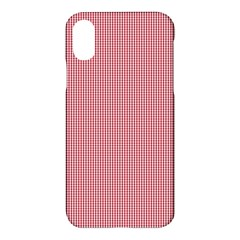 Usa Flag Red Blood Mini Gingham Check Apple Iphone X Hardshell Case by PodArtist