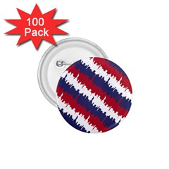 Ny Usa Candy Cane Skyline In Red White & Blue 1 75  Buttons (100 Pack)  by PodArtist