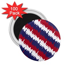 Ny Usa Candy Cane Skyline In Red White & Blue 2 25  Magnets (100 Pack)  by PodArtist