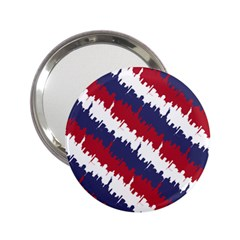 Ny Usa Candy Cane Skyline In Red White & Blue 2 25  Handbag Mirrors by PodArtist