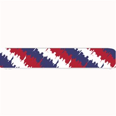 Ny Usa Candy Cane Skyline In Red White & Blue Small Bar Mats by PodArtist