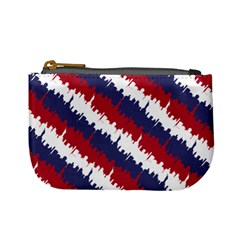 Ny Usa Candy Cane Skyline In Red White & Blue Mini Coin Purses by PodArtist
