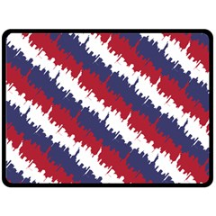 Ny Usa Candy Cane Skyline In Red White & Blue Fleece Blanket (large)  by PodArtist