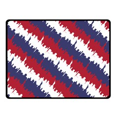 Ny Usa Candy Cane Skyline In Red White & Blue Fleece Blanket (small) by PodArtist