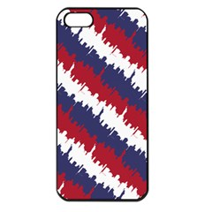 Ny Usa Candy Cane Skyline In Red White & Blue Apple Iphone 5 Seamless Case (black) by PodArtist