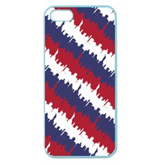 Ny Usa Candy Cane Skyline In Red White & Blue Apple Seamless Iphone 5 Case (color) by PodArtist