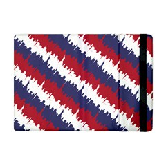 Ny Usa Candy Cane Skyline In Red White & Blue Apple Ipad Mini Flip Case by PodArtist