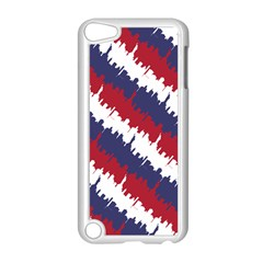 Ny Usa Candy Cane Skyline In Red White & Blue Apple Ipod Touch 5 Case (white) by PodArtist
