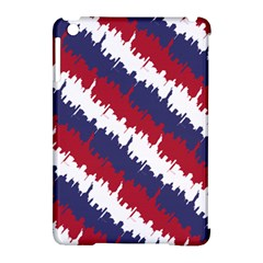 Ny Usa Candy Cane Skyline In Red White & Blue Apple Ipad Mini Hardshell Case (compatible With Smart Cover) by PodArtist