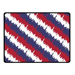 Ny Usa Candy Cane Skyline In Red White & Blue Double Sided Fleece Blanket (small)  by PodArtist