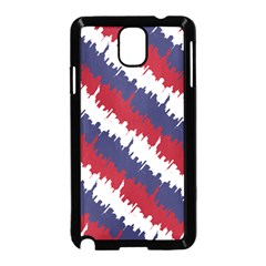 Ny Usa Candy Cane Skyline In Red White & Blue Samsung Galaxy Note 3 Neo Hardshell Case (black) by PodArtist