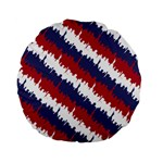 NY USA Candy Cane Skyline in Red White & Blue Standard 15  Premium Flano Round Cushions Front