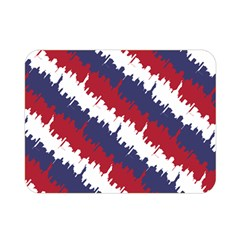 Ny Usa Candy Cane Skyline In Red White & Blue Double Sided Flano Blanket (mini)  by PodArtist