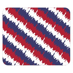 Ny Usa Candy Cane Skyline In Red White & Blue Double Sided Flano Blanket (small)  by PodArtist